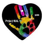 Project HEAL blk Heart ornament - Ornament (Heart)