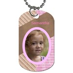 Pink Choc Dog Tag (two sided) - Dog Tag (Two Sides)