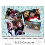 Christmas gift mom and dad 2013 - Wall Calendar 11  x 8.5  (12-Months)