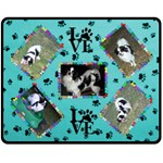 Dog lover s blanket #3 - Fleece Blanket (Medium)