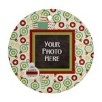 Happy Holidays Ornament - Round Ornament (Two Sides)