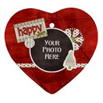 Happy Holidays Ornament - Ornament (Heart)