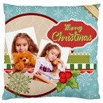 merry christmas - Large Cushion Case (One Side)