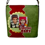 merry christmas - Flap Closure Messenger Bag (L)