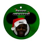 Mickey Mouse ornament, 2 sides - Round Ornament (Two Sides)