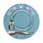 Owl boy ornament - Ornament (Round)