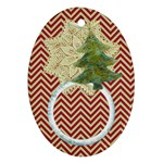 christmas 2 sides ornament - Oval Ornament (Two Sides)