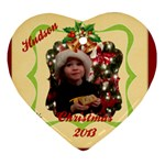 hudson 2013 - Heart Ornament (Two Sides)