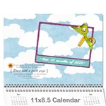 12 months holiday 2015 - Wall Calendar 11  x 8.5  (12-Months)