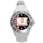 merry chrismas - Round Plastic Sport Watch (L)