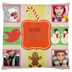 merry christamas - Large Cushion Case (One Side)