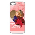 love - Apple iPhone 5 Case (Silver)