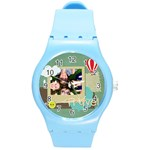 travel - Round Plastic Sport Watch (M)