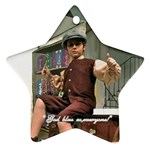 David as Tiny Tim 2013 after order was submitted - Star Ornament (Two Sides)
