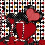Queen of Hearts 1 - ScrapBook Page 12  x 12