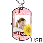 easter - Dog Tag USB Flash (One Side)