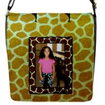 Girl s giraffe small messenger bag - Flap Closure Messenger Bag (S)