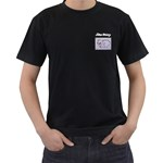 hampicRha - Men s T-Shirt (Black) (Two Sided)