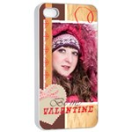 love - iPhone 4/4s Seamless Case (White)