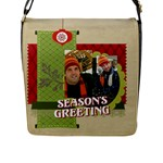 xmas - Flap Closure Messenger Bag (L)