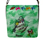 Butterfly Garden flap closure messenger bag - Flap Closure Messenger Bag (L)