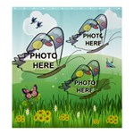 Butterfly Field large shower curtain - Shower Curtain 66  x 72  (Large)