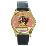 mothers day - Round Gold Metal Watch