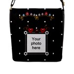 Hearts Flap Closure Messenger Bag - Flap Closure Messenger Bag (L)