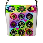love flowers Flap Closure Messenger Bag - Flap Closure Messenger Bag (L)