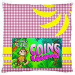 camp throw pillow - Large Cushion Case (One Side)