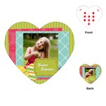 easter - Playing Cards Single Design (Heart)
