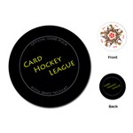Card Hockey League - Playing Cards Single Design (Round)