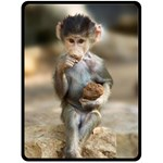 Cute Monkey - Fleece Blanket (Large)