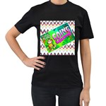camp - Mrs F 2 - Women s T-Shirt (Black) (Two Sided)