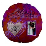 18  Love Song Cushion, #4 - Large 18  Premium Round Cushion