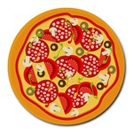 pizza - Collage Round Mousepad