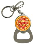 pizza - Bottle Opener Key Chain