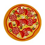 pizza - Round Ornament (Two Sides)