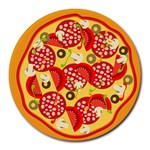 pizza - Round Mousepad
