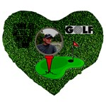 Golf 19   premium cushion - Large 19  Premium Heart Shape Cushion