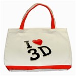 I love 3D - Classic Tote Bag (Red)