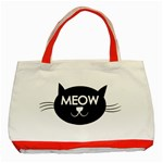 Meow cat - Classic Tote Bag (Red)