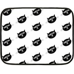 meow cat - Double Sided Fleece Blanket (Mini)