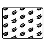 meow cat - Double Sided Fleece Blanket (Small)