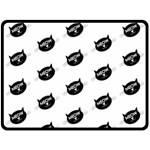 meow cat - Double Sided Fleece Blanket (Large)