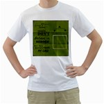Men s t-shirt two sided - Men s T-Shirt (White) (Two Sided)