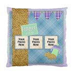 2 Sided Finger Foods Pillow - Standard Cushion Case (Two Sides)