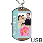 fathers day - Dog Tag USB Flash (One Side)