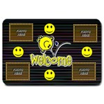 Large Smiley Welcome Mat - Large Doormat
