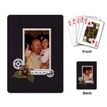 Playing Cards: My Dad, My Hero - Playing Cards Single Design (Rectangle)